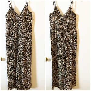 New Crystal Sky Leopard Print Cropped Jumpsuit 13